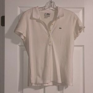 White Lacoste Button down size 44